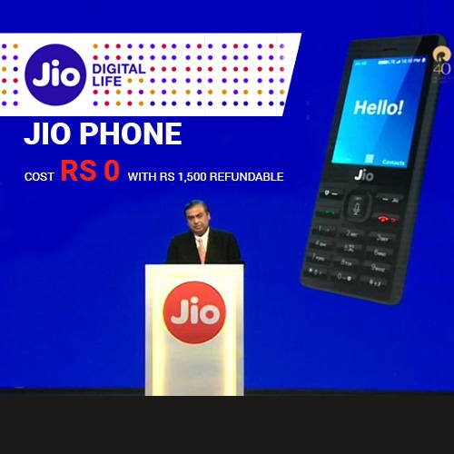 JioPhone launched for free with Rs. 1,500 Deposit and Unlimited 4G Data