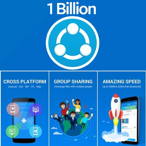 SHAREit has with 1 billion users worldwide