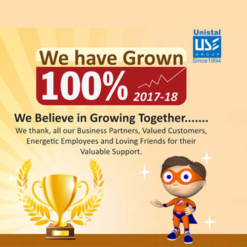 Unistal achieves over 100% Revenue Growth in FY 17-18