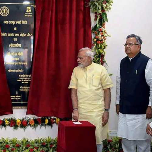 PM inaugurates Greenfield smart city, Naya Raipur