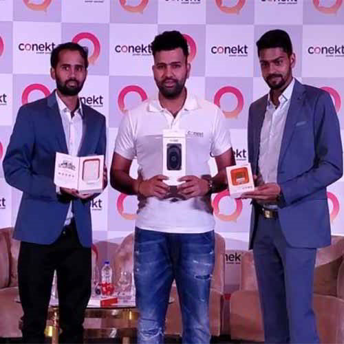 Rohit Sharma launches Conekt Gadgets in India