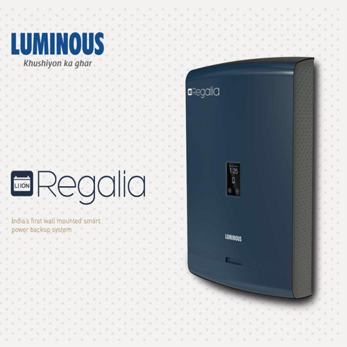 "Luminous launches ""Regalia"", a wall-mounted power backup system"