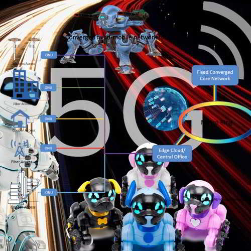 How will 5G empower the collaboration where human intervention will be minimized?