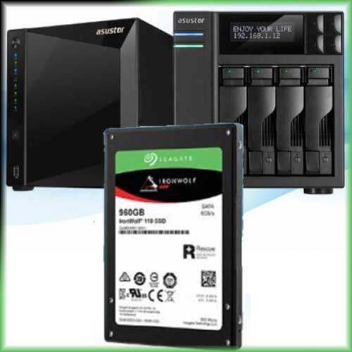 ASUSTOR now supports Seagate IronWolf 110 SSDs