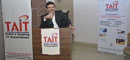 "TAIT organizes session on ""How to adopt and grow Your Business in the Digital First World"" by Manoj Kotak"