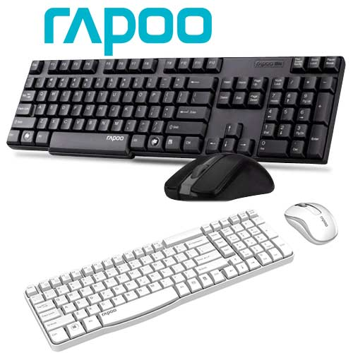 Rapoo brings X1800S wireless keyboard and mouse combo priced at Rs. 1599/-