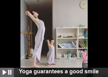 Yoga guarantees a good smile
