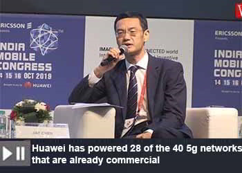 Jay Chen, CEO, Huawei India at India Mobile Congress 2019 - part - 2