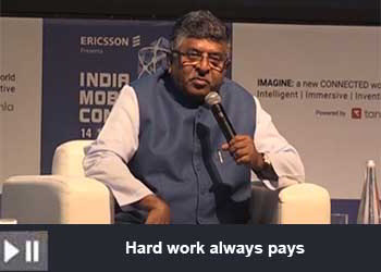 Ravi Shankar Prasad, Minister of Law, Communications, Electronics & Information Technology at India Mobile Congress Part - 2