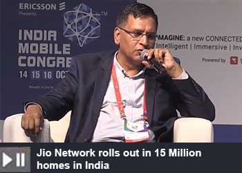 Anuj Jain - President, JioGigaFiber Business Jio Digital Life at India Mobile Congress 2019