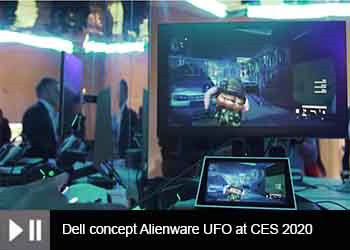 Dell concept Alienware UFO at CES 2020