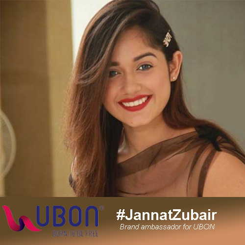 Jannat Zubair is now the brand ambassador for UBON